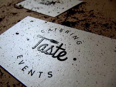 Taste catering logo business cards by jovana andjelkovic dribbble taste catering logo business cards reheart Images