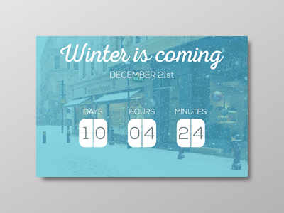 Day 026 - Event Box user interface winter counter box event day26 day026 ui dailyui