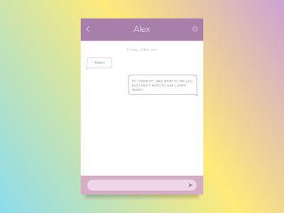 Day 053 - Chat UI user interface chat day53 day053 daily ui dailyui