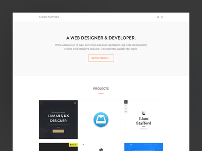 Portfolio 2014 website landing page portfolio icon personal website web design flat ui web design theme template