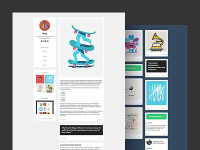 Post and Coast Tumblr Themes tumblr theme tumblr theme free freebie flat web design clean modern download github