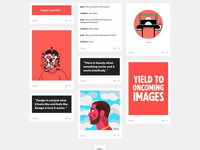 Coral Tumblr Theme tumblr tumblr theme theme template flat web design design github free freebie download web