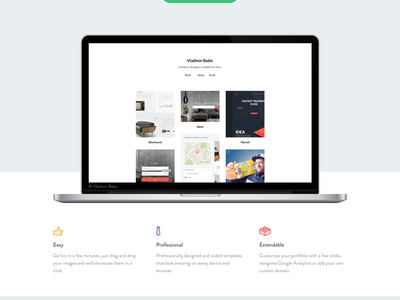 Material Landing Page portfolio prelaunch startup landing page landing web web design web app project beta material design
