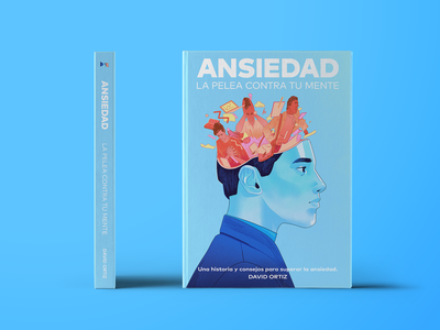 Anxiety Book Cover editorial art editorial design editorial illustration anxiety photoshop art digitalart design editorial ansiedad mexico illustration artwork