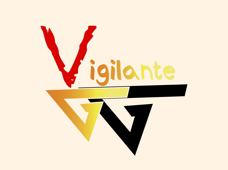 Artboard 1vigilante Logo icon flat branding minimal illustration typography vector