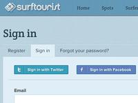 Surftourist: css social media buttons