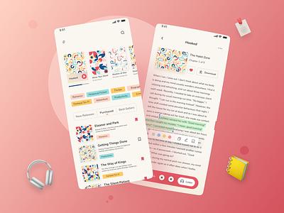 eBook Mobile App - UI Design book reading app design app ui mobile app ebook