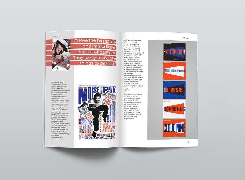 magazine layout | Paula Scher designer magazine paula scher magazine layout magazine design layoutdesign layout design