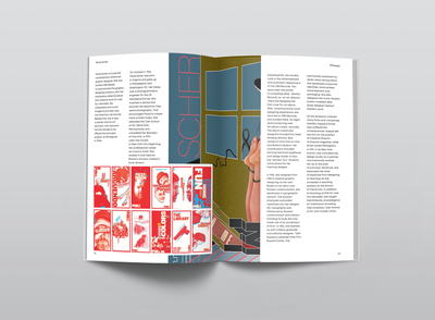 magazine layout | Paula Scher