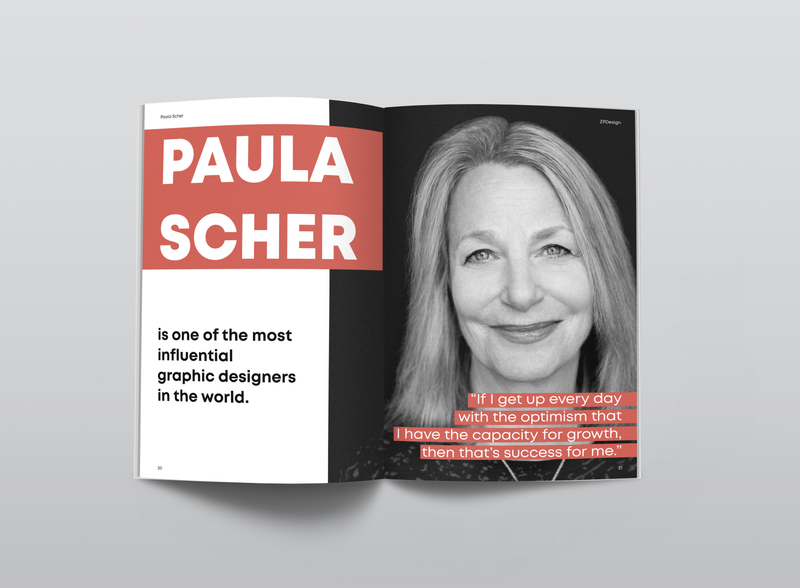 magazine layout | Paula Scher typography paula scher magazine layout magazine design magazine layoutdesign layout designer design