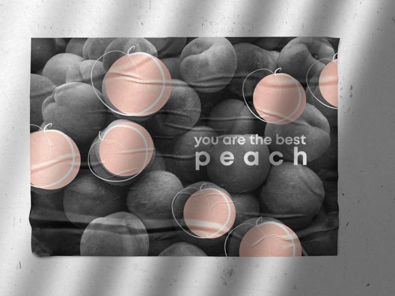 poster | peach graphic design designer design poster