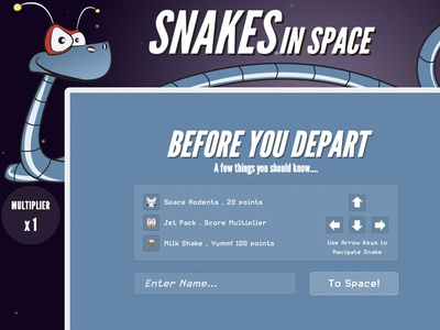 snakes in space