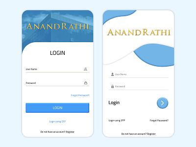 Login Screen app ui design