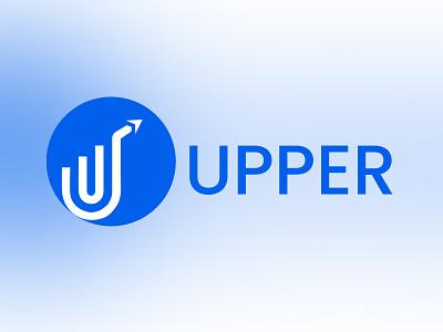 Upper Digital vector logo illustration icon ux design