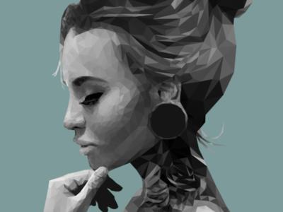 Low poly portrait