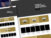 Watch Limited - Website Wireframes