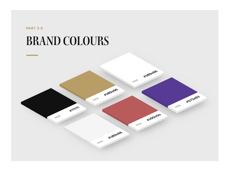 Style Guide - Brand Colours branding colours guideline color brand guide style guide