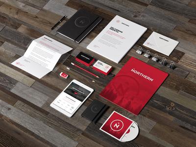 Northern Branding - Stationary 2 brand franchise design identity logo branding