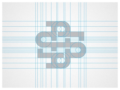 DS Monogram - Grid design identity logo branding