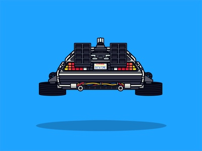 Flying Delorean delorean flying back to the future