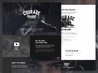 Courage Hockey - Landing Page