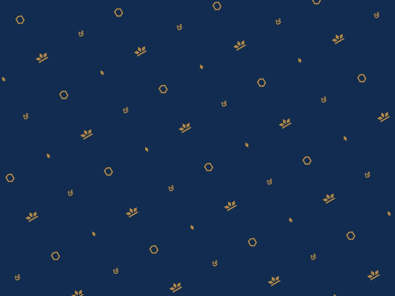 C&Q - Brand Pattern gold blue pattern quartz crown logo identity branding
