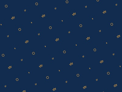 C&Q - Brand Pattern gold blue pattern quartz crown logo identity branding