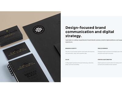 Dekkerslade.com - Services services gold personal website website uiux design monogram logo hero identity branding