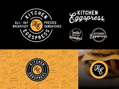 Kitchen Eggspress - Brand Identity breakfast badge mark design branding logo identity
