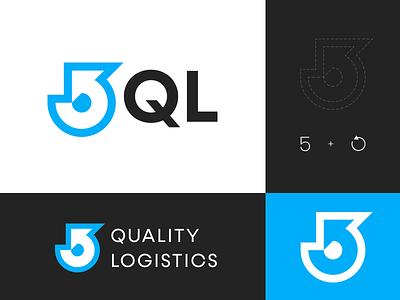 5 Quality Logistics – unused logo option modernism 5 number quality direction arrow five delivery logistics composition vector muzli design startup identity logo branding