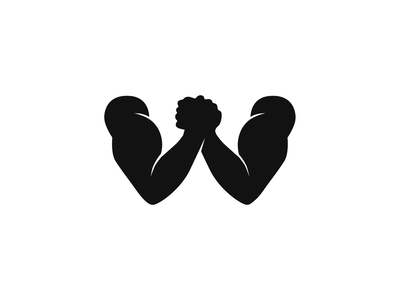WOD – Workout of the Day – symbol health fitness wod workout w letter battle duel symbol composition muzli design startup identity logo branding
