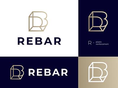REBAR v.2 plastic reinforcement development conctruction rebar br monogram rb ai composition vector muzli design startup identity logo branding