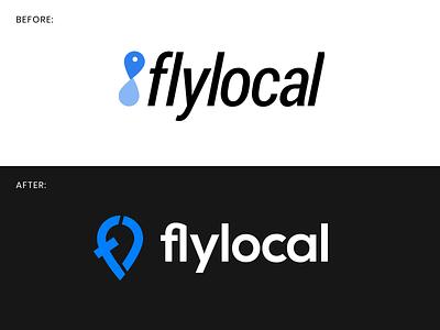 flylocal – quick logo redesign rebranding redesign. brush-up alaska airlines redesign monogram composition vector muzli design startup identity logo branding