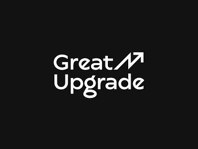 Great Upgrade ↗️ #TBT relocation human resources coding wordmark update arrow education upgrade great composition vector muzli design startup identity logo branding