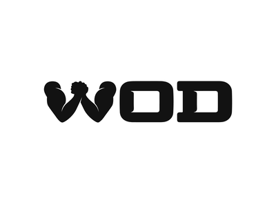 WOD – Workout of the Day – wordmark battle duel competition wod health wellness sport product fitness app workout fitness coach composition vector muzli design startup identity logo branding