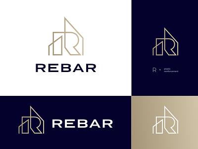 R E B A R v.3 – final logo version building construction rebar ui monogram composition vector muzli design startup identity logo branding