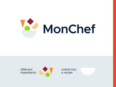 MonChef – logo concept (unused) michelin cook eat cooking food kitchen chef aggregator recipe vector muzli design startup identity logo branding