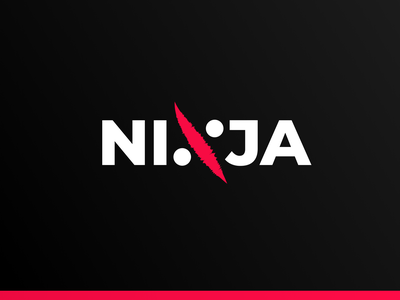 NINJA logodesign minimal symbol mark typography wordmark ftid refunds fight martial ninja per cent muzli startup identity logo branding