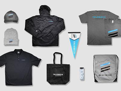 Swag Laydown promotional material branding design branding merch swag