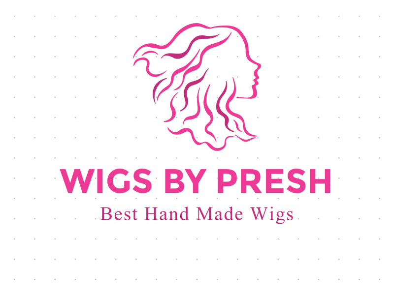 WIGS BY PRESH design logo gameplay great