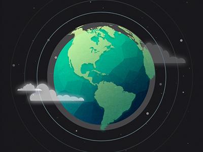 GLB illustration globe earth world space planet
