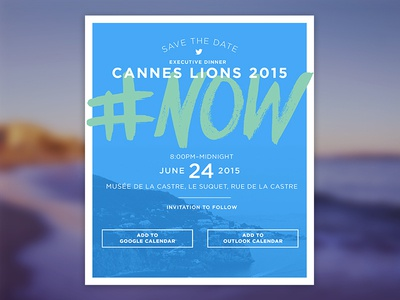 SVTHDT @CANNES invite twitter lions cannes date the save