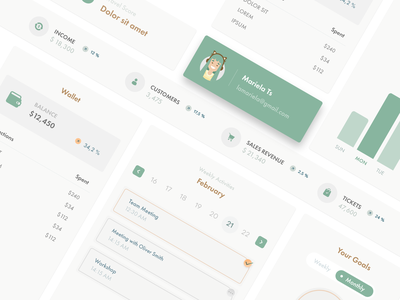 Dashboard Interface Elements interface ux uielements elements dashboard white flat color palette ui
