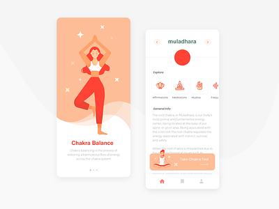 Chakra Balance peace chakra meditation yoga design appdesign app ui design ui