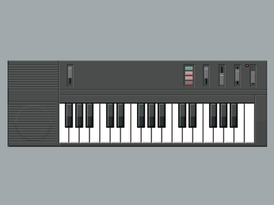 Casio Keyboard keyboard casio illustration synthesizer electronics musical