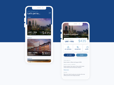 Jetto UI photography blue ios travel flights app