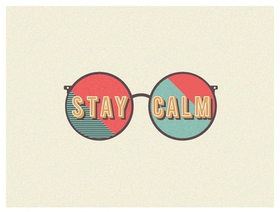 Stay calm typographic stayhome covid19 icon typography graphic vector flat illustration graphicdesign minimal design adobe