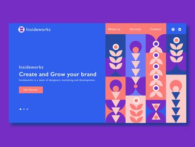 Website layout for design agency user experience ui ux branding logo vector typography branding concept minimal website concept adobexd adobe illustrator shape graphic webdesign website