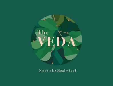 The Veda illustration flat icon vector typogaphy typo illustrator adobe graphicdesign branding brand logodesign logo