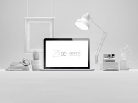 Psd 3D Desktop Web Showcase
